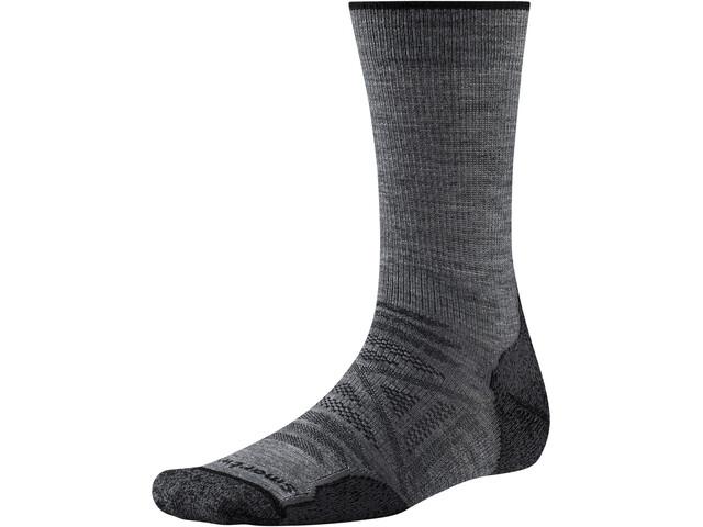 Smartwool PhD Outdoor Light Crew-Cut Socken medium gray